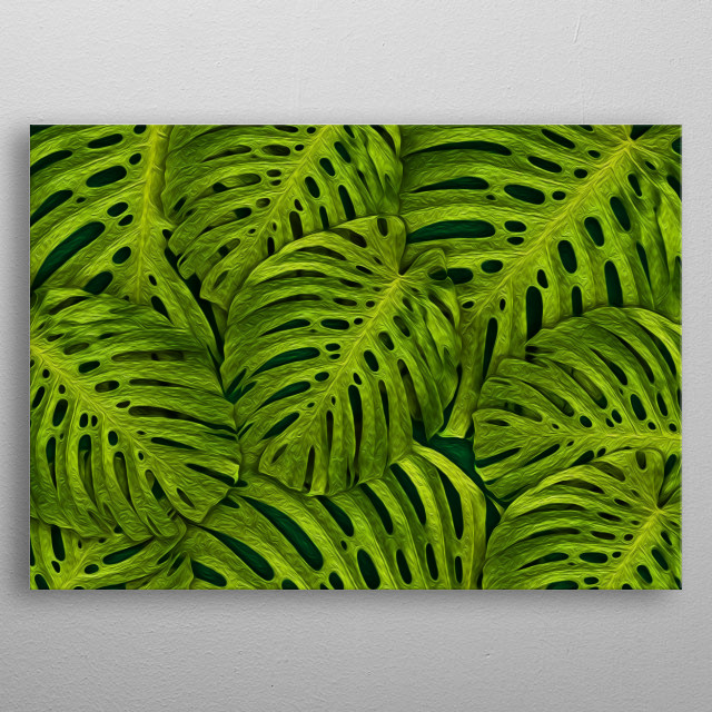 Fern leaves truly have something magical about them. metal poster