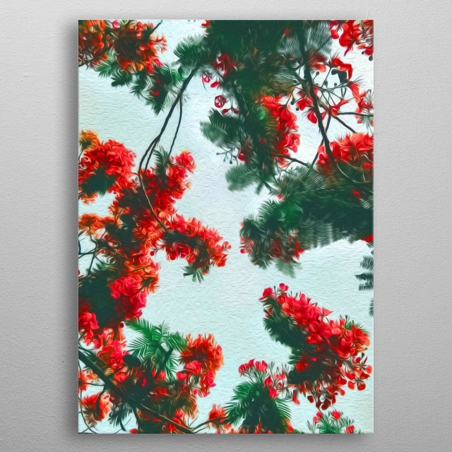 Red petals, gorgeous. metal poster
