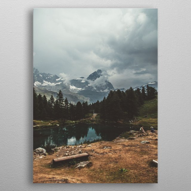 Mountain Background metal poster