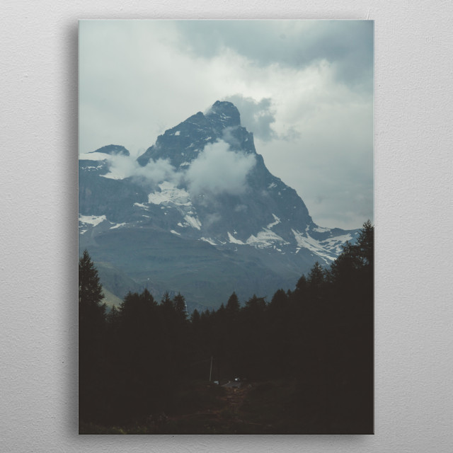 Mountain Background metal poster