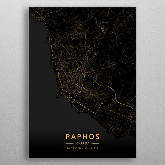 Fascinating metal poster designed by Designer Map Art. Displate has a unique signature and hologram on the back to add authenticity to each design. metal poster