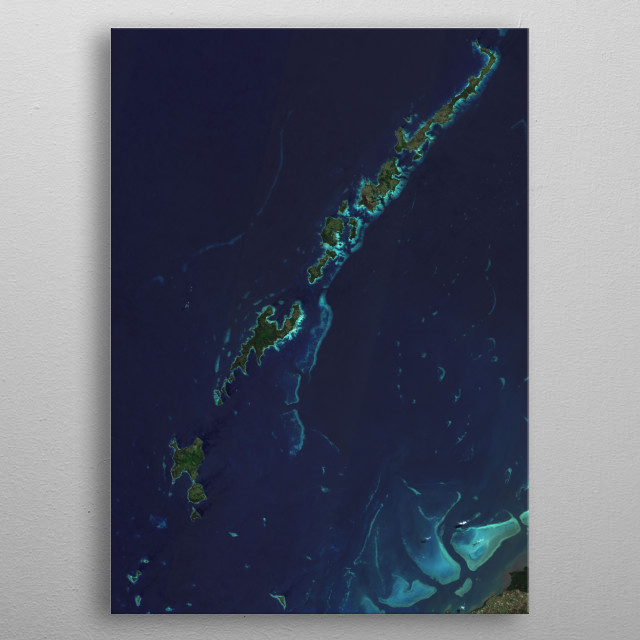 The Yasawa Group is an archipelago of about 20 volcanic islands in the Western Division of Fiji. metal poster