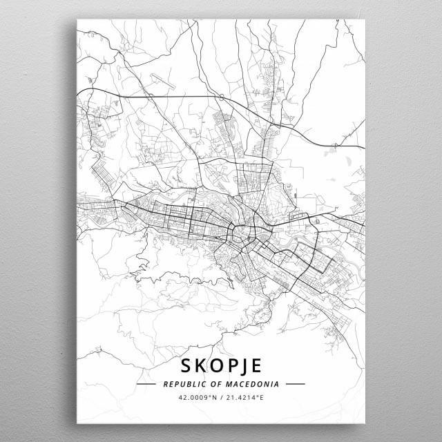 Skopje Republic of Macedonia metal poster