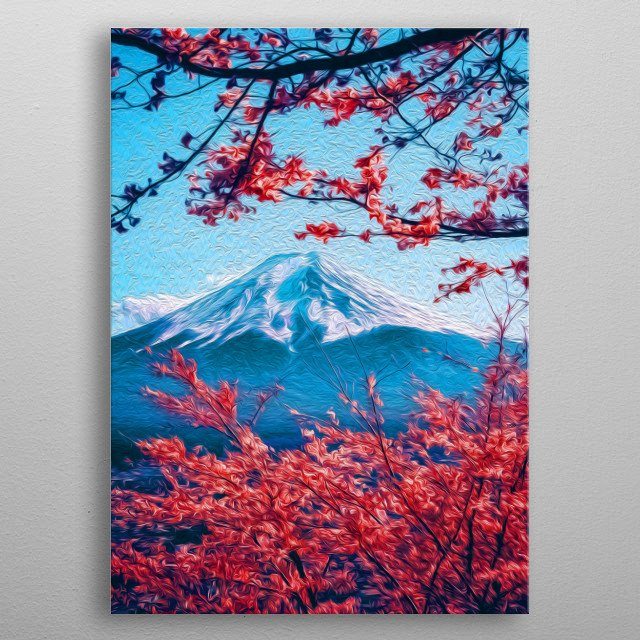 Looking at a far away mountain can be trully beautiful and terrifying - at the same time. metal poster