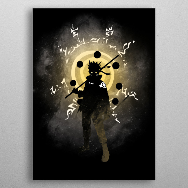 Illustration of a Ninja metal poster