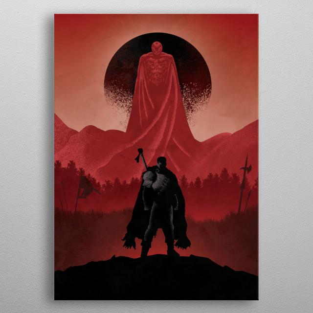 Ilustration inspired by Berserk metal poster