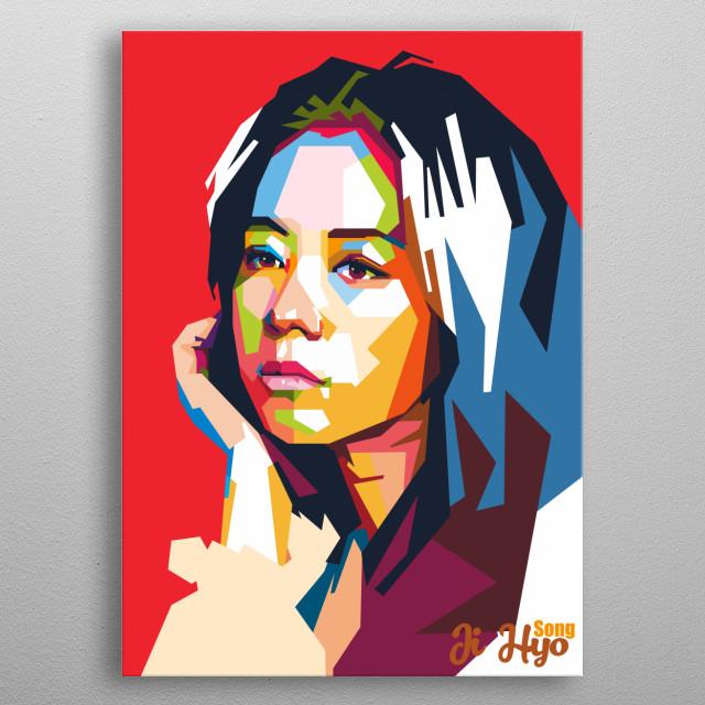 Song Ji Hyo was a korean actress metal poster
