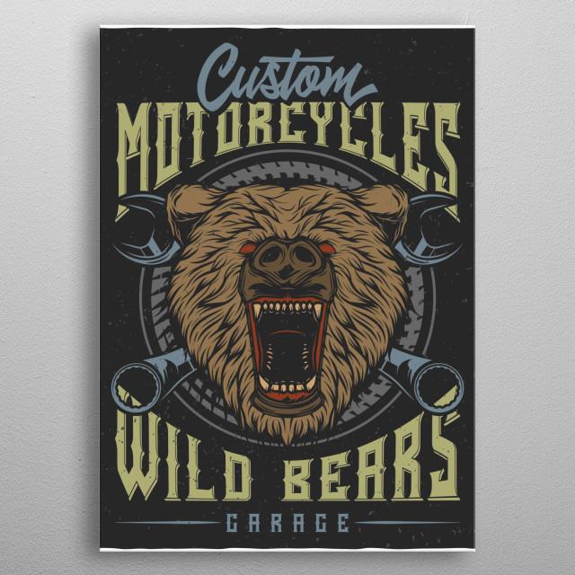 Bear metal poster