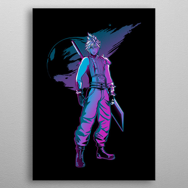 Cloud in retro style metal poster