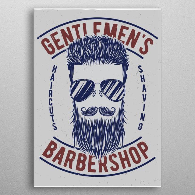 Barbershop metal poster