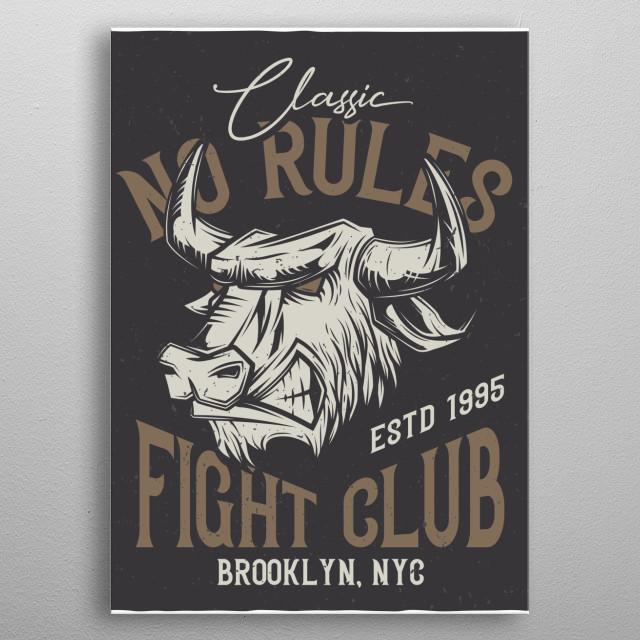 Bull metal poster