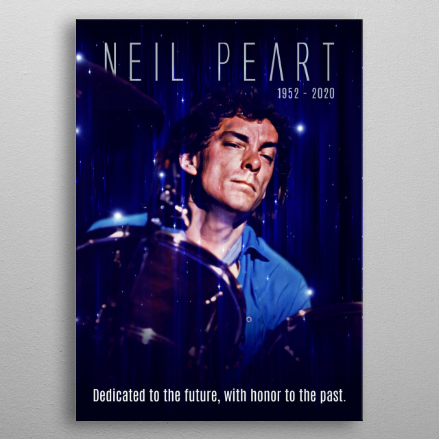 tribute to the rush best drummer neil peart metal poster