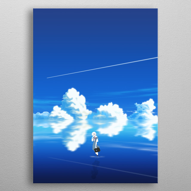 Rei Ayanami from Evangelion metal poster