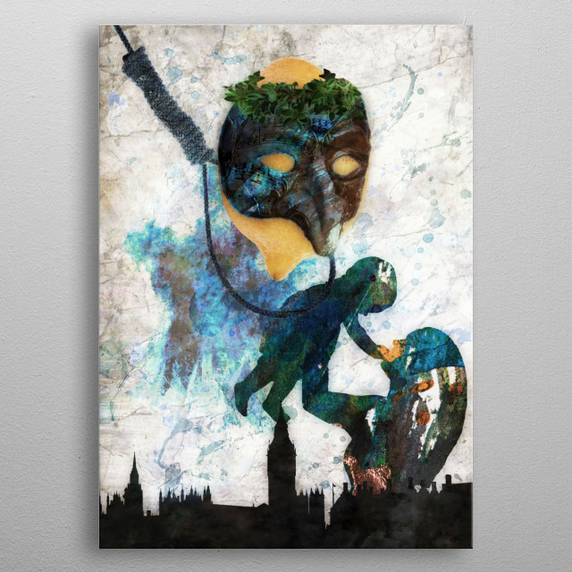 #41 -The Hanging Man by Vesa Kivinenn from a story by James Moffet metal poster