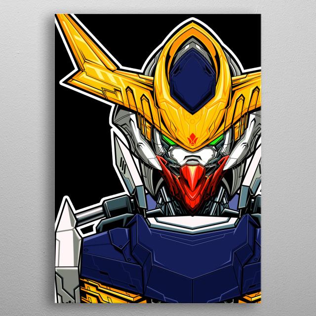 Gundam Barbatos Lupus From Iron Blooded orphans series metal poster