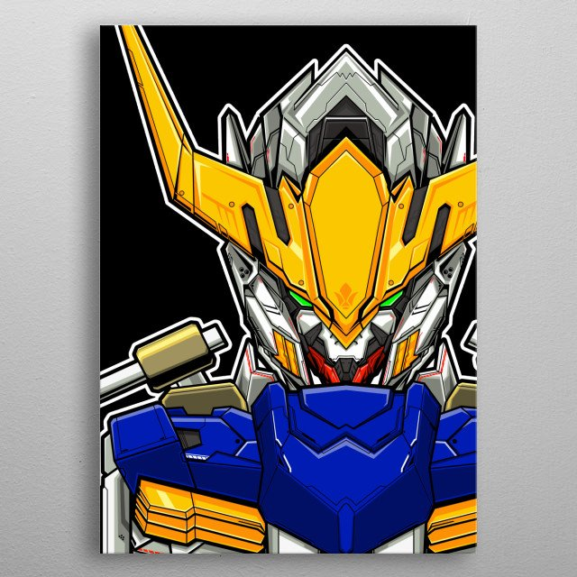 Gundam Barbatos From Mobile Suit Iron Blooded Orphans metal poster