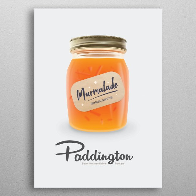 Paddington - Alternative Movie Poster metal poster