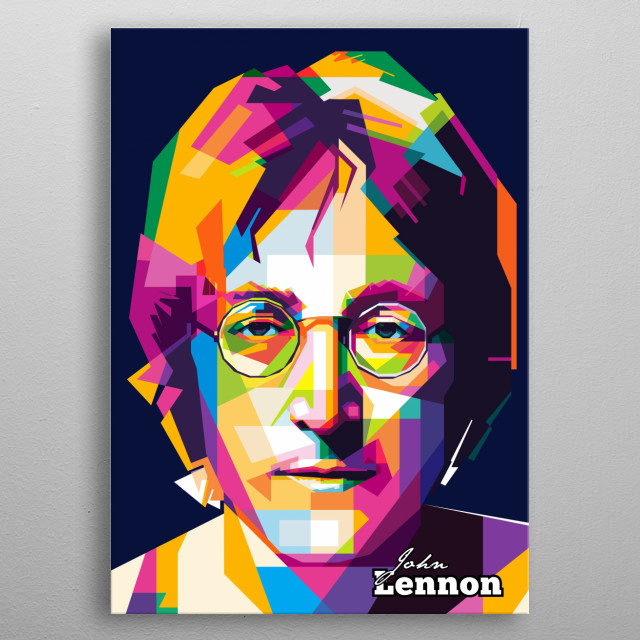 John Lennon The Beatles in WPAP pop art Poster metal poster