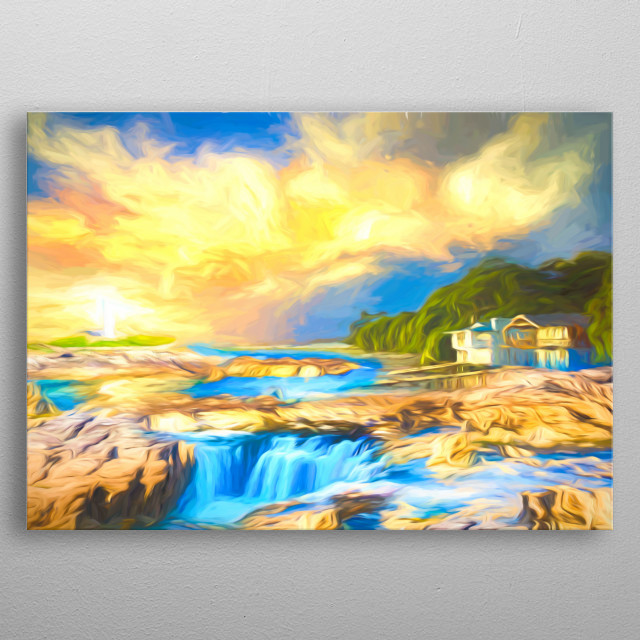 Dreamscape of an idyllic place metal poster