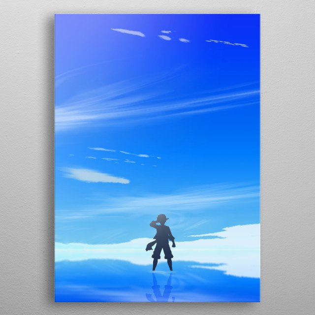 Monkey D. Luffy from One Piece metal poster