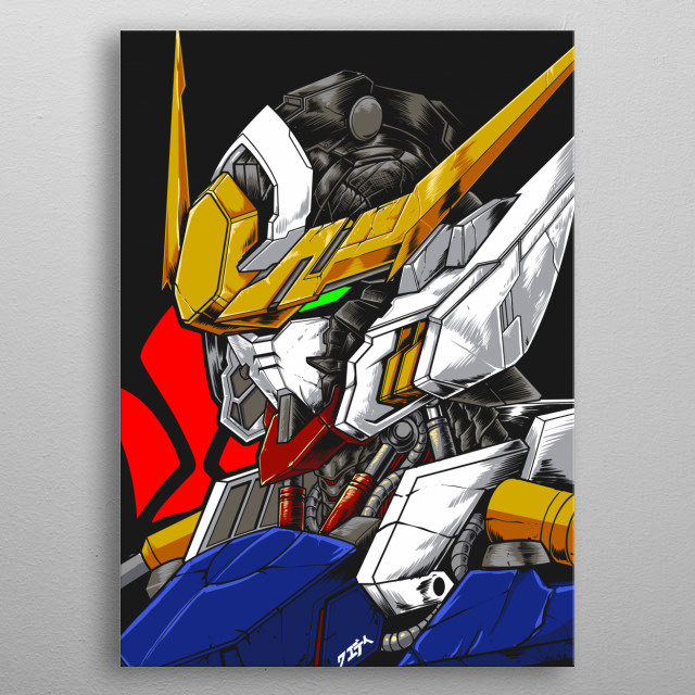 Gundam Barbatos from Iron Blooded Orphans series metal poster