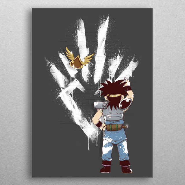 When the dragon knight tags a wall... metal poster