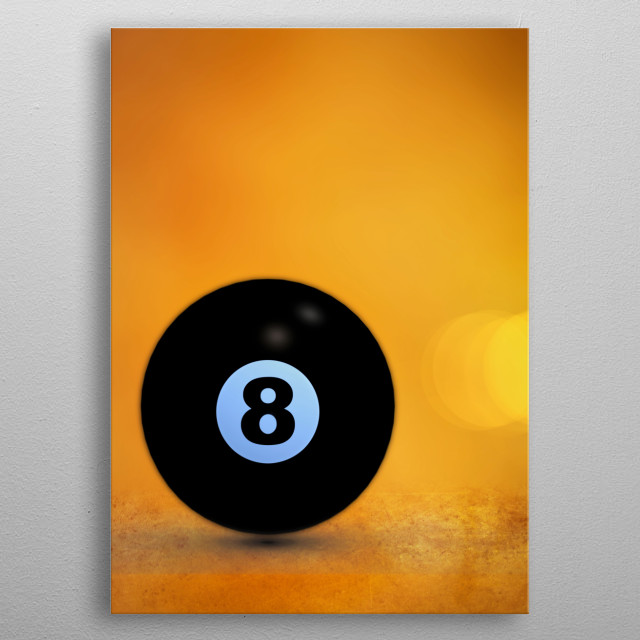 The magic eight ball waits silently for your questions. Illustration by Bob Orsillo metal poster
