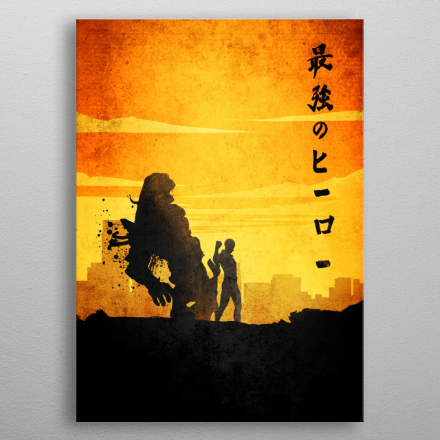 High-quality metal print from amazing Minimalist Manga collection will bring unique style to your space and will show off your personality. metal poster