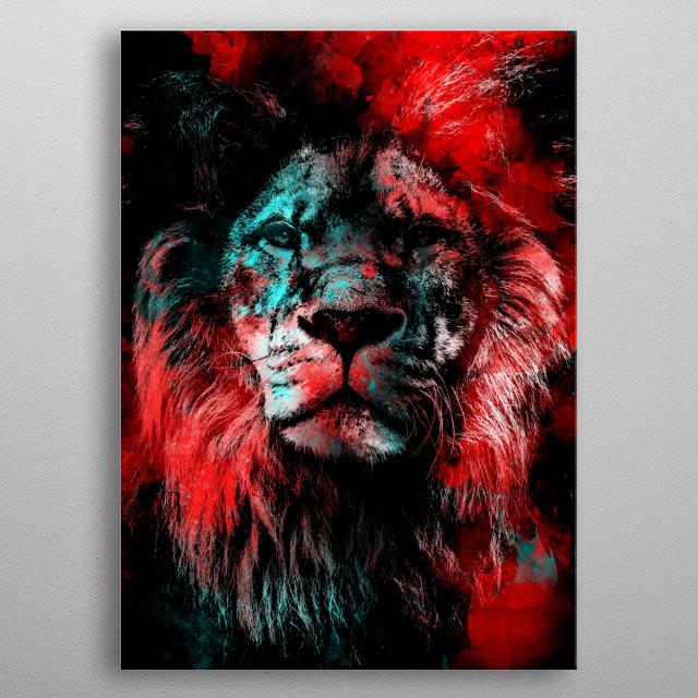Lion wild cat #lion metal poster