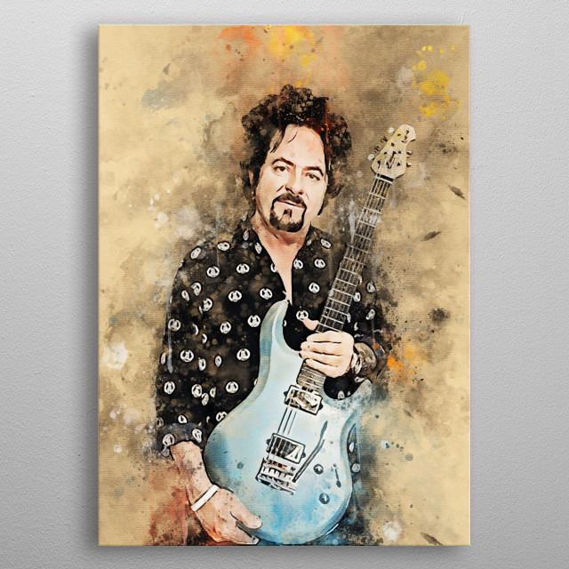 """Steve """"Luke"""" Lukather is a guitarist and singer, songwriter, arranger, and producer who has received a Grammy Award. metal poster"""