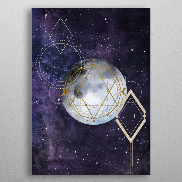 Let my spirit fly high towards the stars. metal poster