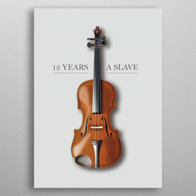 12 Years A Slave - Alternative Movie Poster metal poster