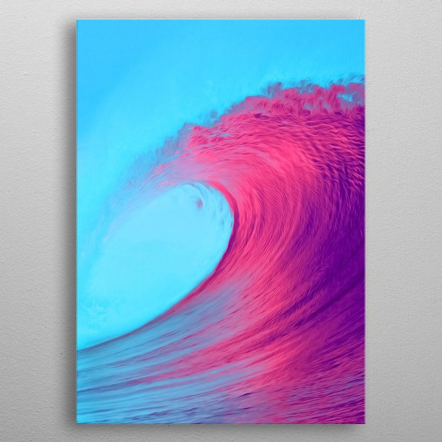 For all the surfers or just lovers of oceans and seas out there. metal poster