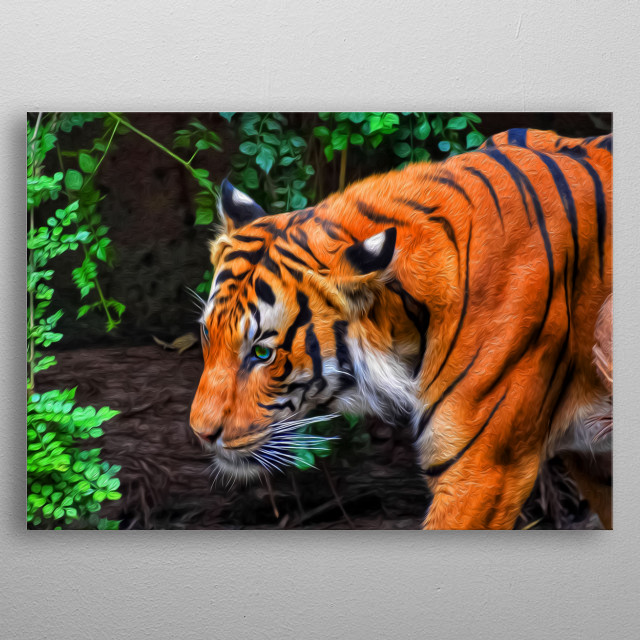 Is there anything scarier than meeting a hungry tiger in the middle of the jungle? I don't think there is. Unless you're Mike Tyson. metal poster