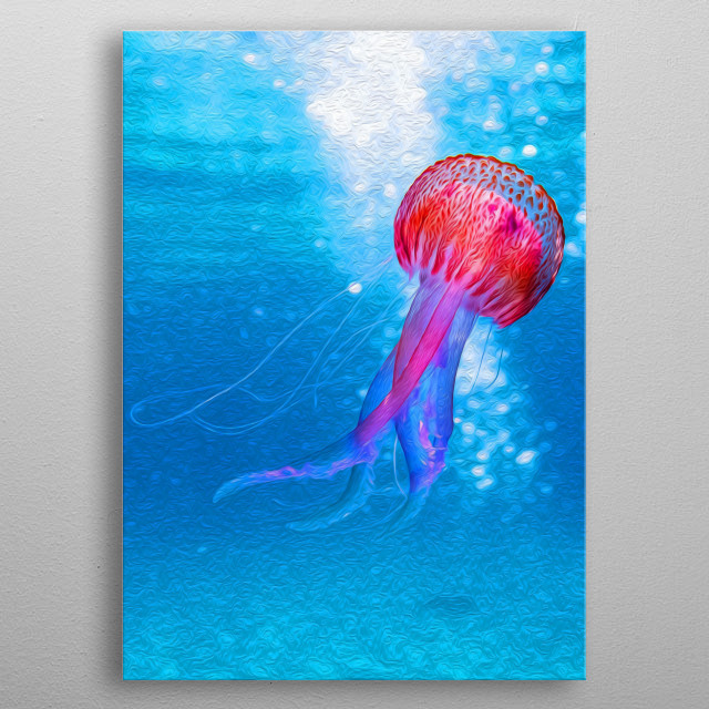 Jellyfish are dangerous, yet beautiful. metal poster