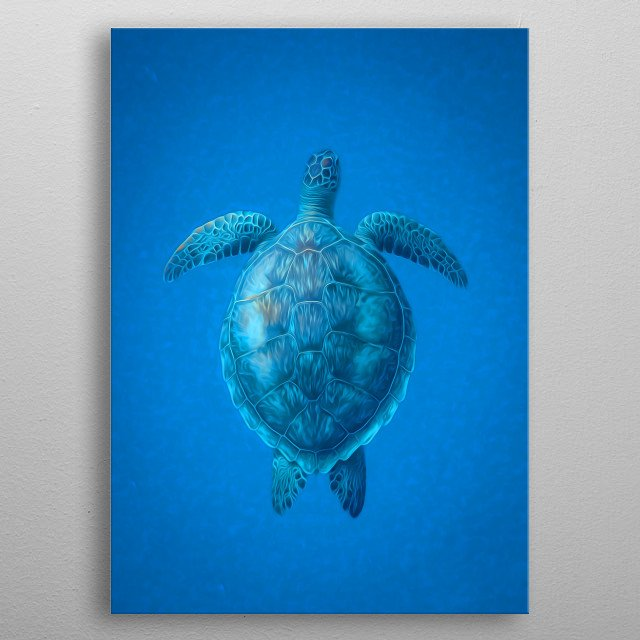 Turtle art for turtle lovers. metal poster