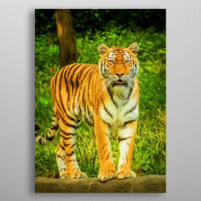 Tigers are designed to seek and destroy. metal poster