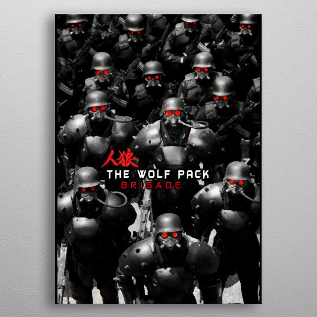 jin roh the wolf pack brigade metal poster