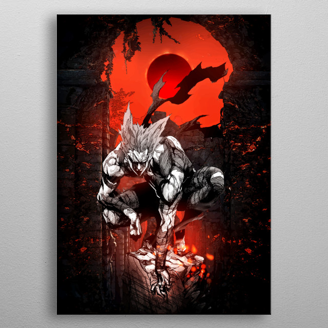 Ultimate garou ninjen kaijin artwork tribute metal poster