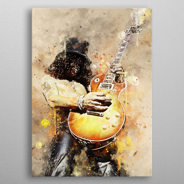 Saul Hudson, best known by his stage name, Slash, is a British-American musician and songwriter.  He is famous as the guitarist of the rock  metal poster