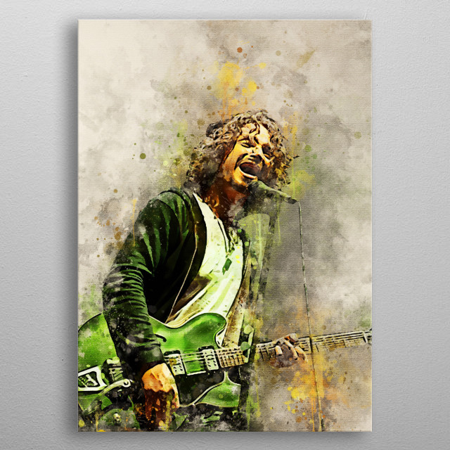 Chris Cornell is a musician known as a singer, guitar player, and songwriter for the bands Soundgarden and Audioslave metal poster