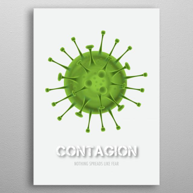Contagion - Alternative Movie Poster metal poster
