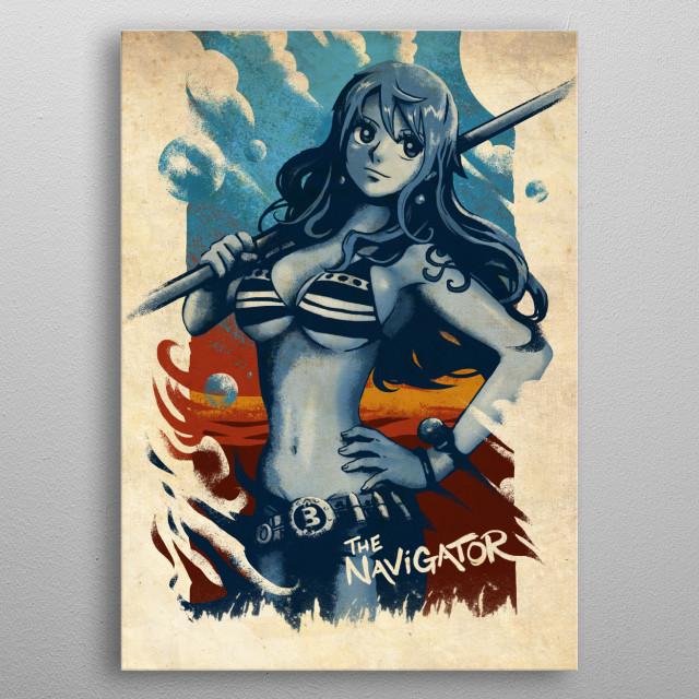 Strawhat Pirates' Navigator metal poster