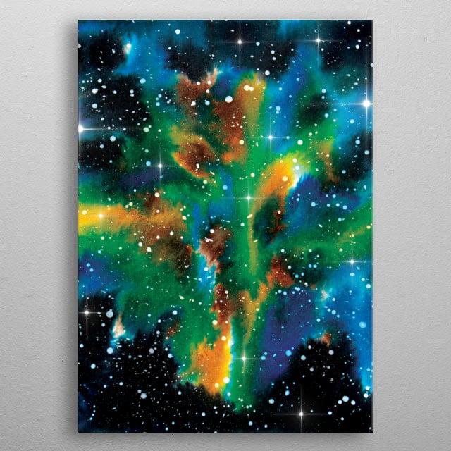 Galaxy  metal poster