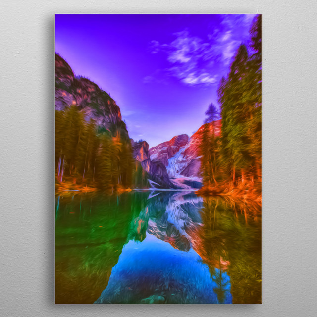 There's nothing like seeing nature reflect itself. metal poster
