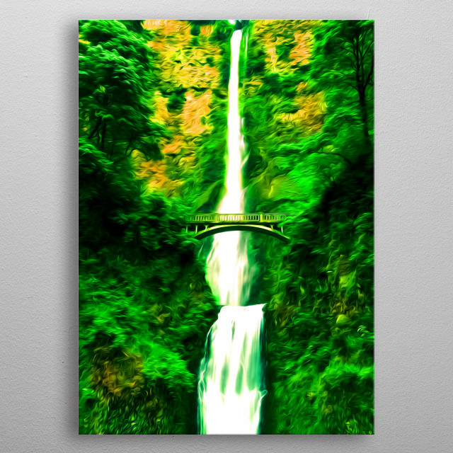 There's nothing like a waterfall coming from a mountain. metal poster