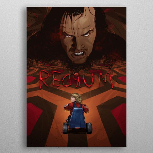 Redrum metal poster