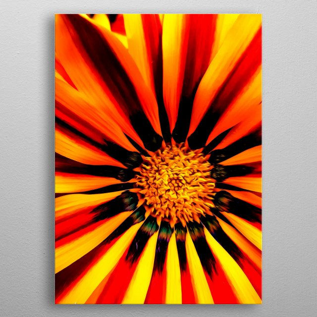 It's very interesting to look into a flower. metal poster