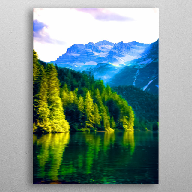 There's nothing like a good forest lake. Amirite? metal poster