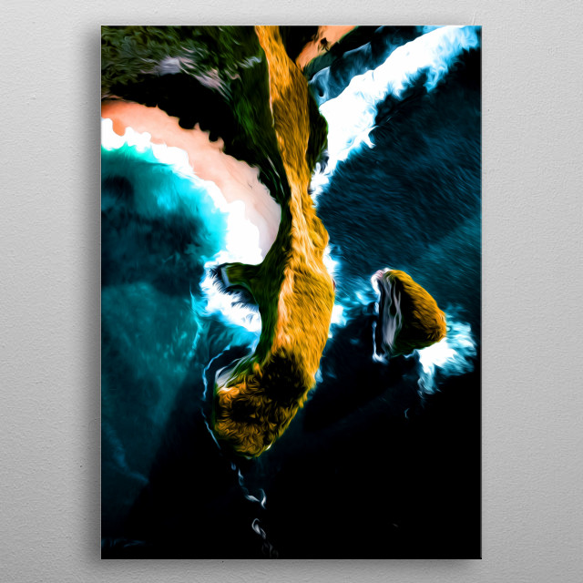 Have you ever seen an island's ridge from above? metal poster